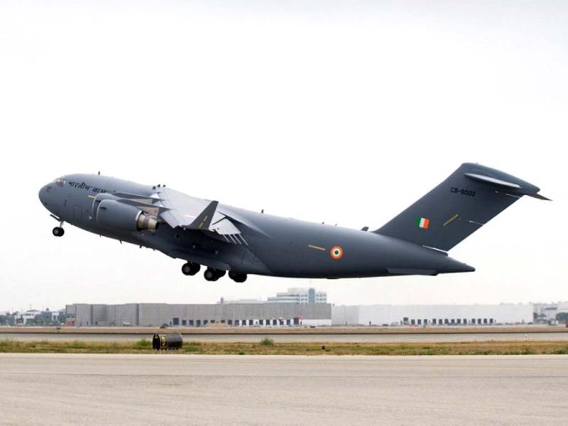 Военно-транспортный самолет С-17 Globemaster III.