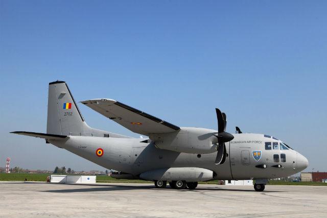Военно-транспортный самолет C-27J Spartan ВВС Румынии.