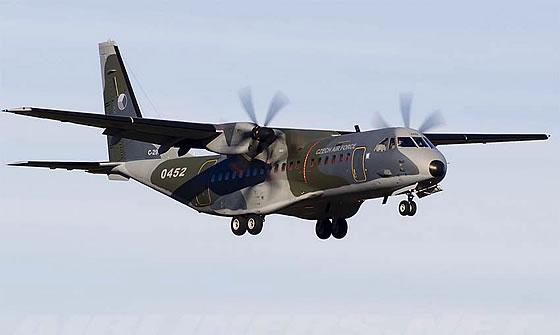 Военно-транспортный самолет C-295 ВВС Чехии.