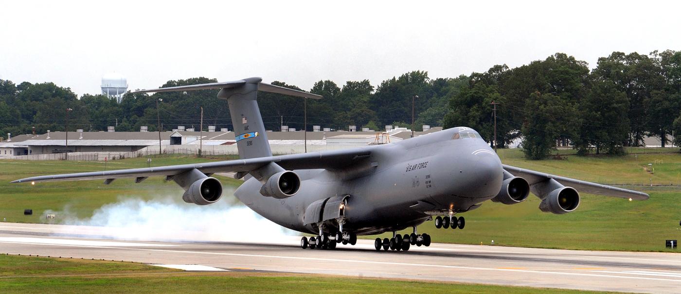 Самолет C-5A «Galaхy».