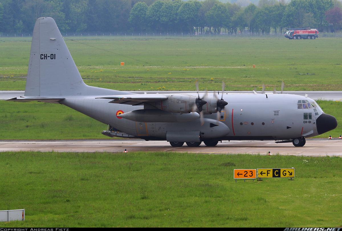 Военно-транспортный самолет Lockheed C-130H Hercules (регистрация СН-01, серийный номер 382-4455) Воздушного компонента Бельгии, Германия, 13.05.2017.