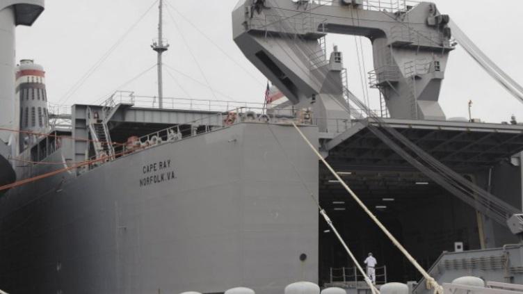 Трейлерное судно Cape Ray, предназначенное для нейтрализации химического оружия Сирии в море.