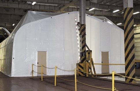 Экологический корпус установлен на борту Cape Ray, который предназначен для уничтожения наливных химических отравляющих веществ(ХОВ), включая горчичный газ и прекурсоры в Зарин.