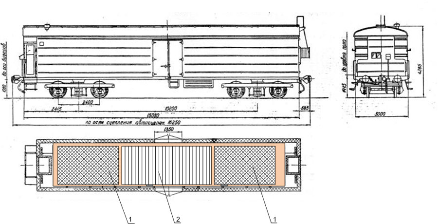 Рис. 4 Вариант вагона с