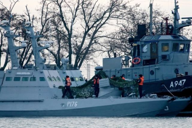 Задержанные ФСБ катера ВМС Украины