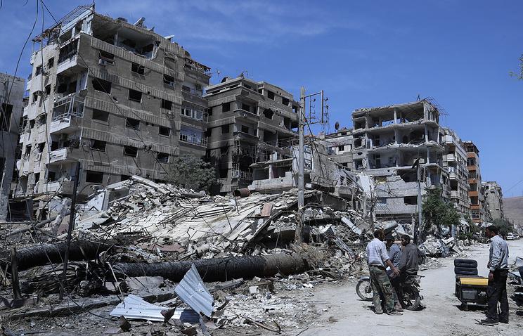 Город Дума (Сирия) после освобождения.