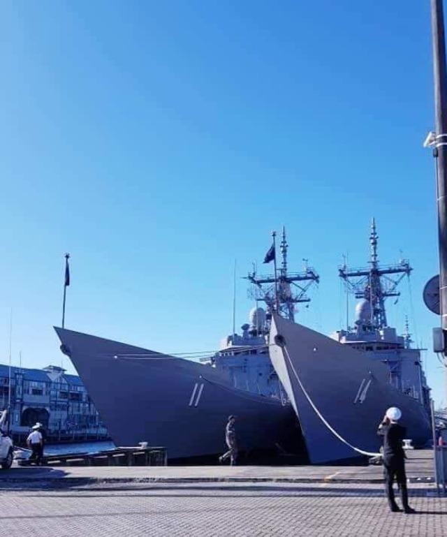 Церемония ввода в состав ВМС Чили фрегатов FFG 14 Almirante Latorre и FFG 11 Captain Prat - соответственно, бывших австралийских FFG 05 Melbourne и FFG 06 Newcastle типа Adelaida (американского типа Oliver H.Perry). Сидней, 15.04.2020