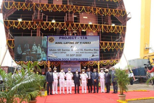 В Индии заложили третий стелс-фрегат проекта P-17A
