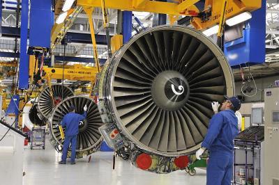 Сборка двигателей CFM56 на сборочном предприятии компании CFM International
