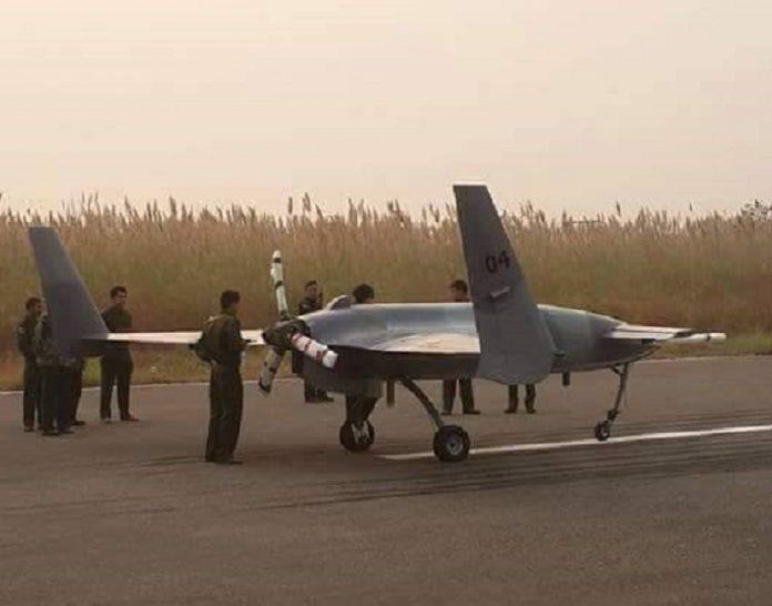 Китайский БЛА СН-3 в Мьянме.