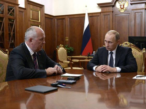 Сергей Чемезов и Владимир Путин