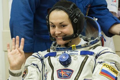 Член экипажа МКС Елена Серова