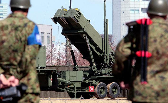 Cистема противовоздушной и противоракетной обороны Patriot PAC-3 в Токио.