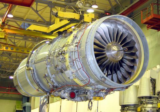 Двигатель Д-30КП2 в цеху ПАО «НПО «Сатурн».
