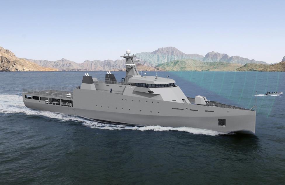 Изображение патрульного корабля проекта Damen Offshore Patrol Vessel 1800 Sea Axe, предположительно заказанного Пакистаном.