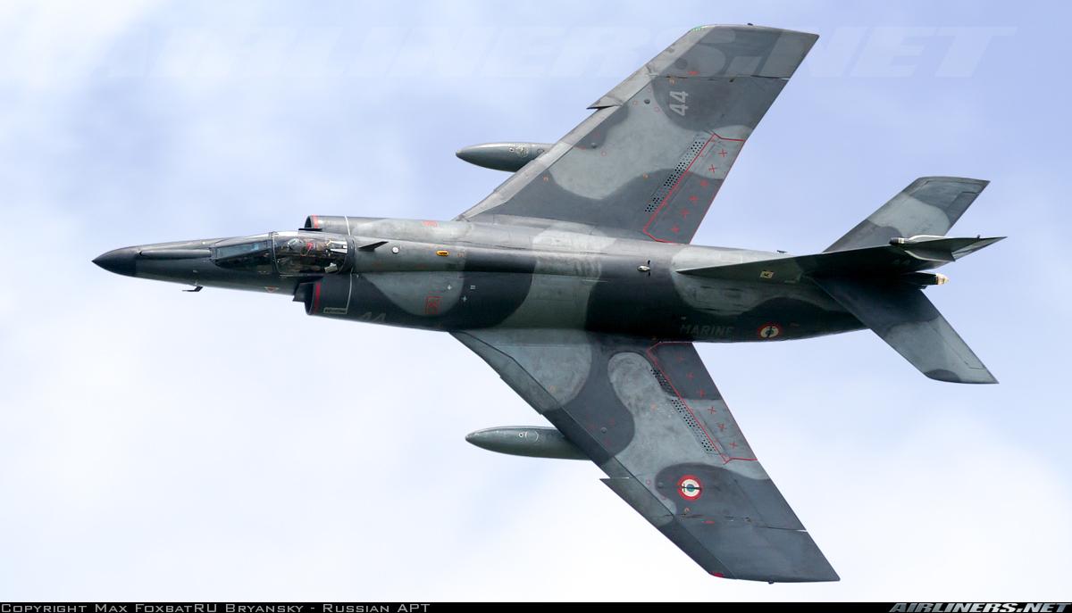 Палубный истребитель-штурмовик Dassault Super Etendard ВМС Франции (серийный и регистрационный номер - 44), 08.06.2014.