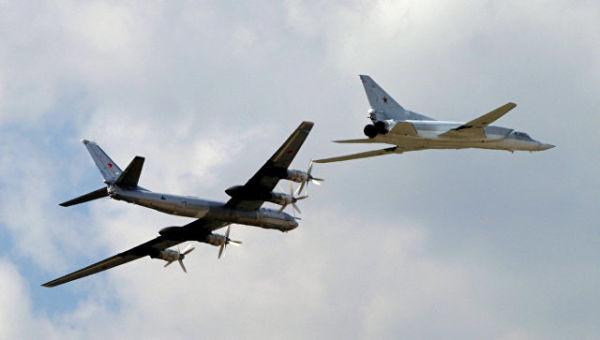 Демонстрационный полет Ту-95 и Ту-22М3