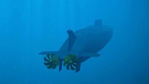 """Демонстрация принципа действия океанской многоцелевой системы с беспилотными подводными аппаратами """"Посейдон"""""""