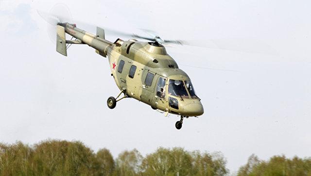 Демонстрация вертолета Ансат.