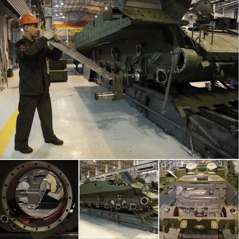 Процесс сборки боевых машин поддержки танков (БМПТ) «Терминатор».