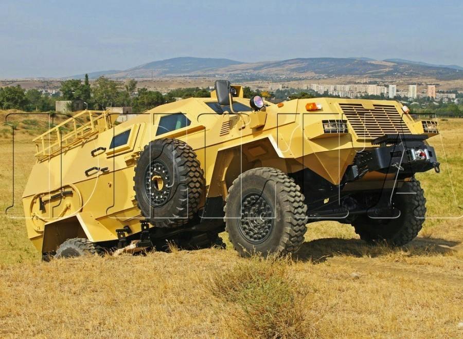 Бронированная медицинская машина на базе грузинского бронеавтомобиля Didgori 2.