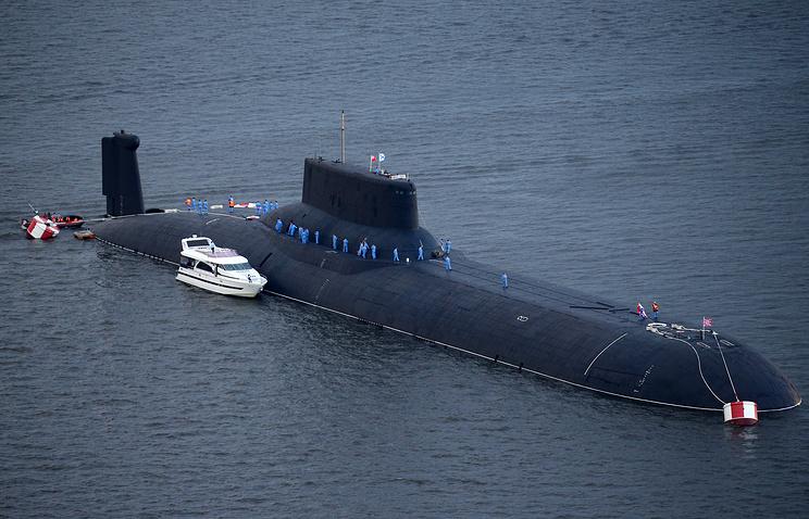 """Атомная подводная лодка """"Дмитрий Донской""""."""