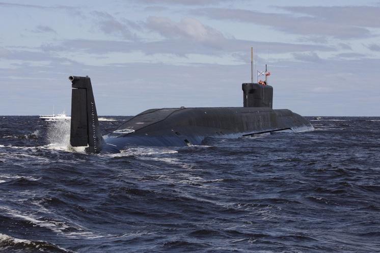 """Атомная подводная лодка стратегического назначения """"Юрий Долгорукий""""."""