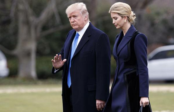 Президент США Дональд Трамп и его дочь Иванка