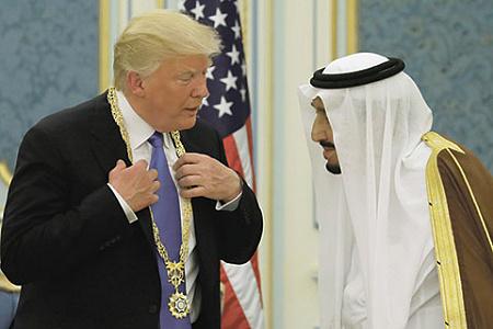 Дональд Трамп и Сальман бин Абдель Азиз Аль Сауд