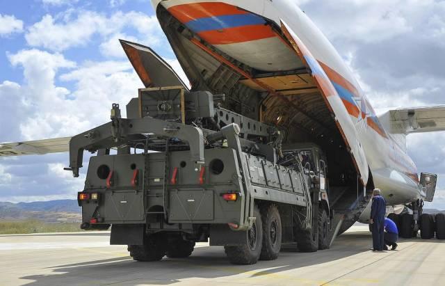 Доставка составных элементов ЗРС С-400 на базу Мюртед в Анкаре