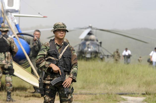 Военнослужащий ВС Никарагуа.