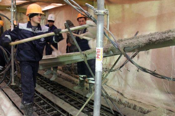 Бетонирование плиты покрытия блока «А»