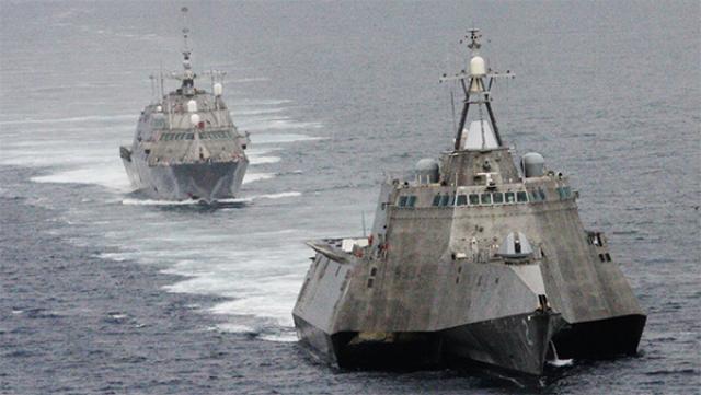 Два корабля одного класса LCS – USS Independence и USS Freedom