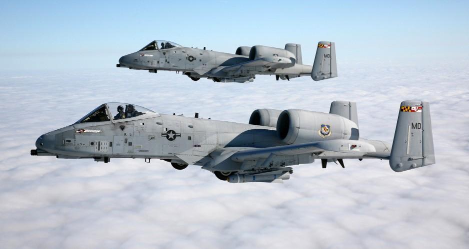 Штурмовики A-10 Thunderbolt II.