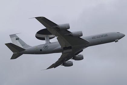 Самолет дальнего радиолокационного обнаружения и управления Boeing E-3A ВВС Саудовской Аравии.
