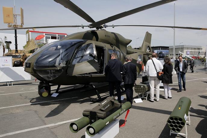 Военный вертолет Eurocopter EC645 T2. Eurosatory-2014.