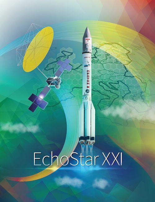 Листовка компании International Launch Services, посвященная запуску спутника EchoStar-21.