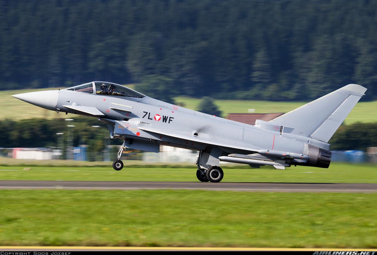 Истребитель Eurofighter Typhoon EF-2000 S (регистрация 7L-WF, серийный номер AS006) ВВС Австрии, 02.09.2016