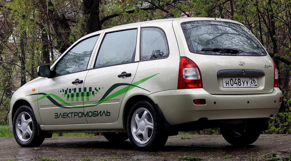 "Электромобиль ""Ел Лада"" компании Автоваз."