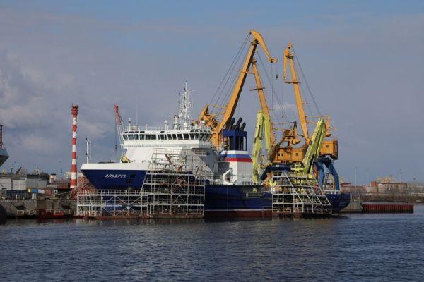 Судно Эльбрус вышло на контрольные испытания в Балтику ВПК  Эльбрус