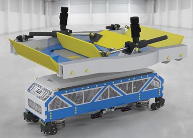 Электрическая тележка для канальной системы буксировки самолетов