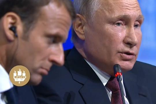 Эммануэль Макрон и Владимир Путин.