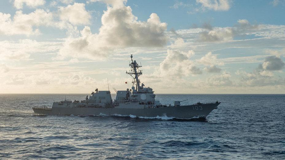 Эсминец USS Truxtun (DDG 103).