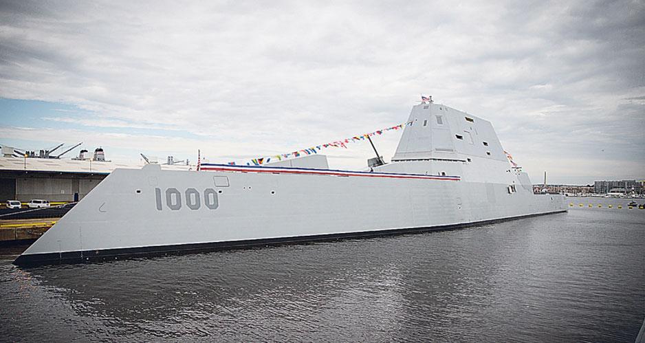 Эсминец USS Zumwalt (DDG-1000).