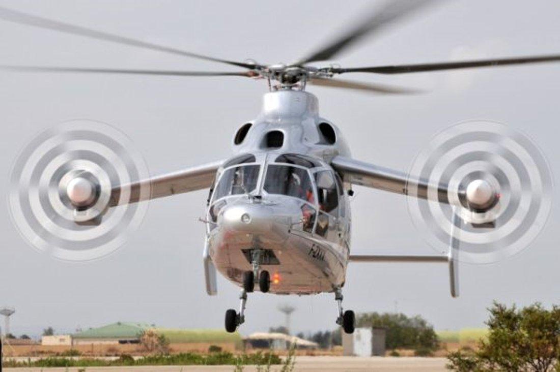 Демонстратор высокоскоростного гибридного вертолета Eurocopter X3.