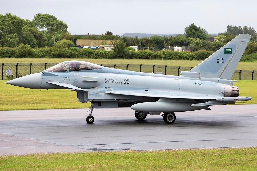 Истребитель Eurofighter Typhoon ВВС Саудовской Аравии.