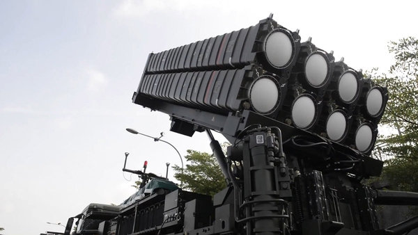 Пусковая установка зенитной ракетной системы Eurosam SAMP/T c зенитными управляемыми ракетами Aster 30 ВВС Сингапура.
