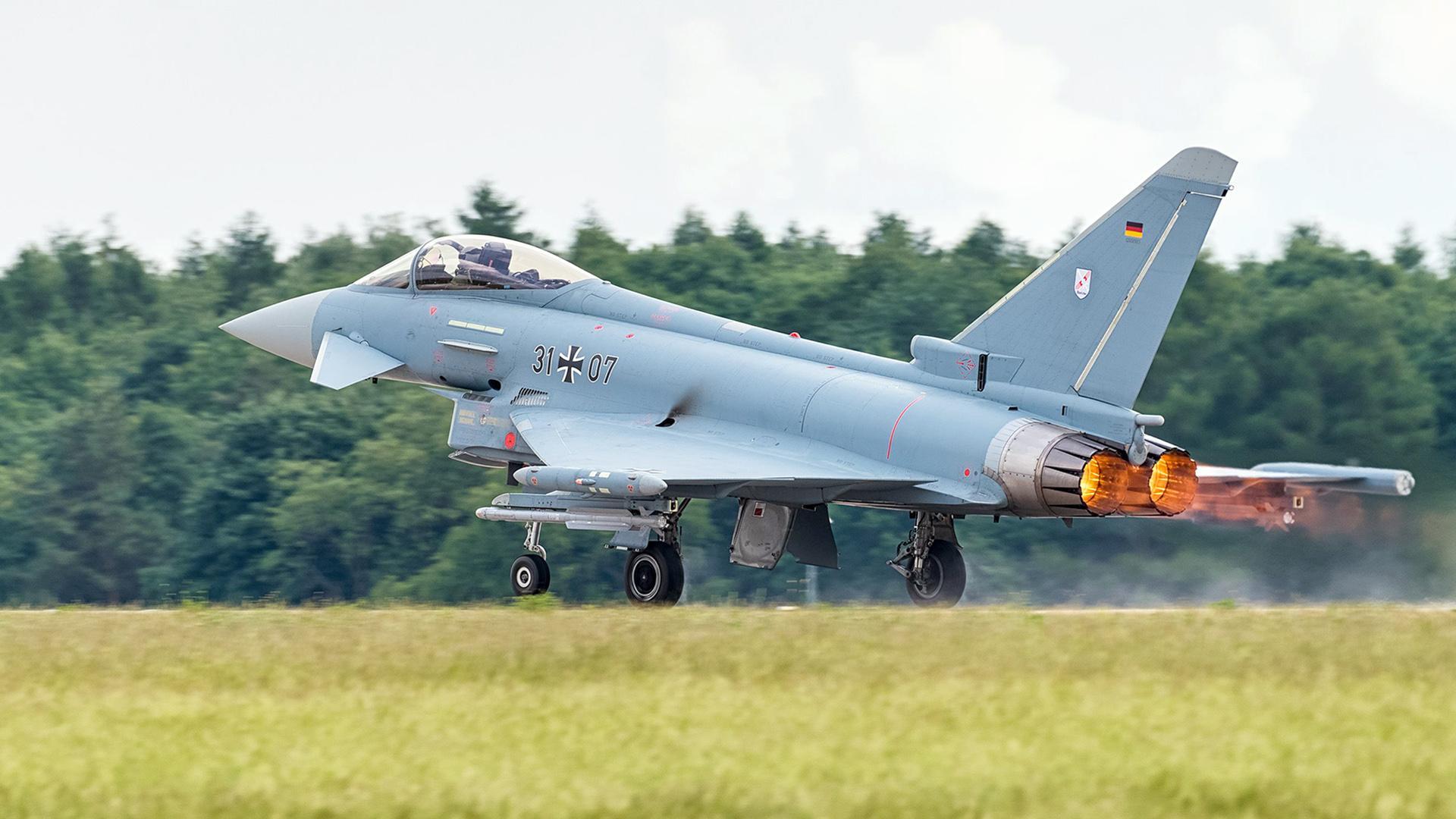 Еврофайтер «Тайфун» ВВС Германии.