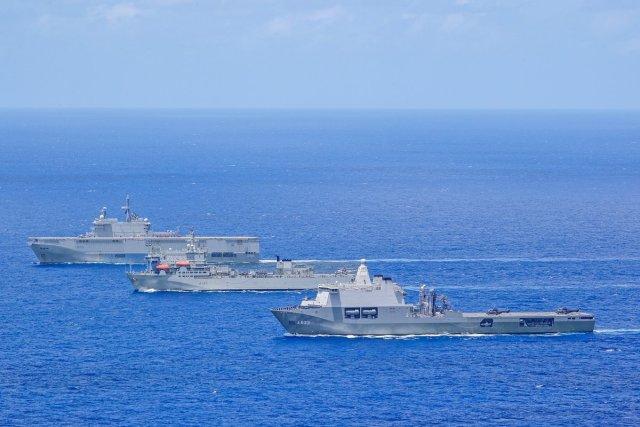 Европейские десантные корабли в едином строю