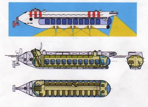 Морское судно-носитель экскурсионной подводной лодки (бывш. ЦНИИ им. акад. А.Н. Крылова).